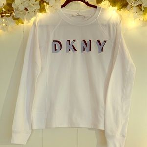 DKNY Fitness sweatshirt, white